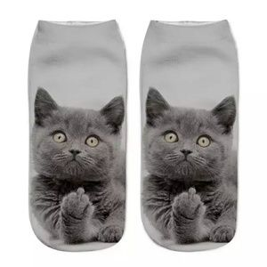 🦋Brand New! Flip Off Cat socks